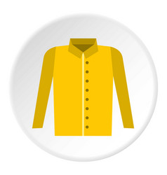 Shirt icon circle vector