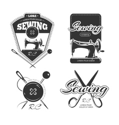 Tailor shop retro logo labels and badges vector