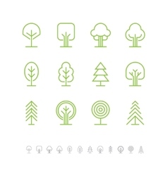 Tree icons set 1 vector image
