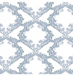 Vintage floral baroque ornament damask pattern vector