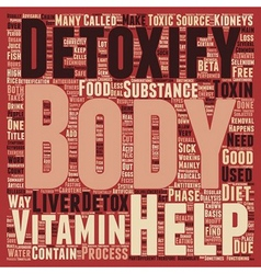 Why Do We Need To Detoxify Our Bodies text vector image vector image