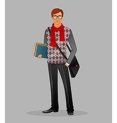 Writer man vector image