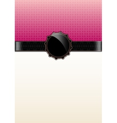 Pink abstract vintage card and badge vector image