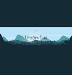 adventure vibes flat landscape vector image