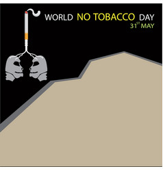 World no tobacco day background with copy space vector