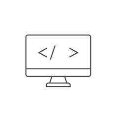 Coding outline icon vector