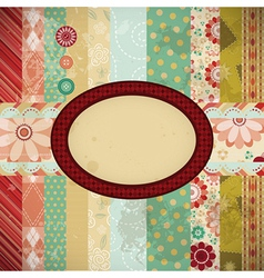 Scrap background made in the classic patchwork vector
