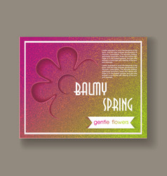 Abstract background balmy spring vector