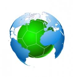 football planet vector image