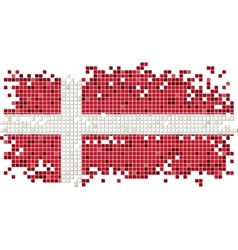 Danish grunge tile flag vector