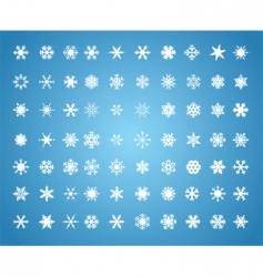 Snowflakes background vector