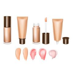3d realistic set of lipsticks - liquid vector