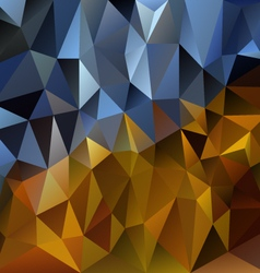 Blue gold polygonal triangular pattern background vector