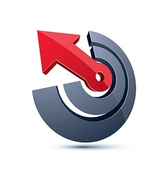 3d abstract symbol with an arrow business strategy vector