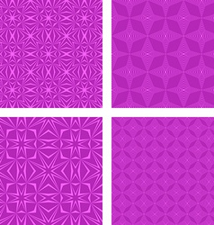 Magenta seamless pattern background set vector