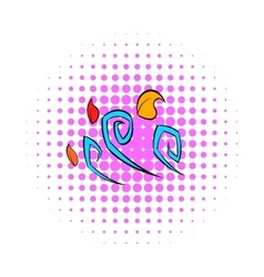 Wind icon pop-art style vector image
