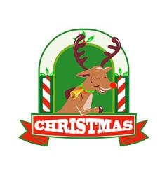 Reindeer deer stag buck christmas vector