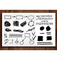 Set of vintage arrows and banners vector image