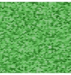Abstract mosaic green triangles background vector