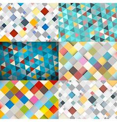 Abstract square and triangle background vector