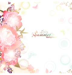 abstract summer floral background vector image vector image