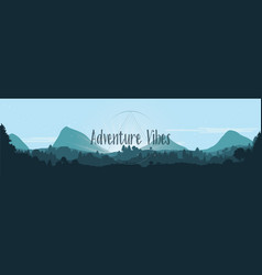 Adventure vibes flat landscape vector