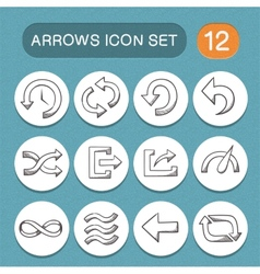 Arrows symbols set vector image vector image