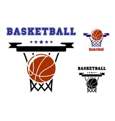 Basketball sports symbols vector