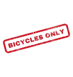 Bicycles only text rubber stamp vector