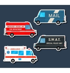 Bus service set vector image vector image