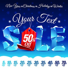 Christmas sale discount vector