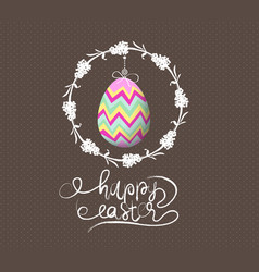easter egg invited greeting card vector image vector image