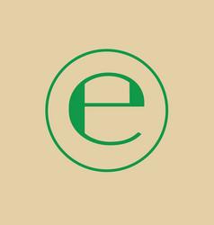 Estimated sign e mark symbol icon vector