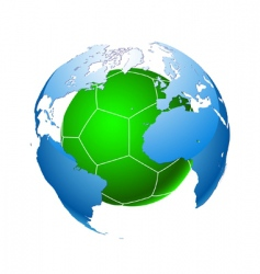 football planet vector image