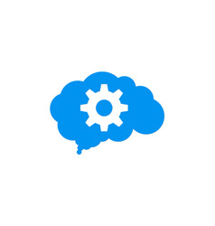 Gear cloud technology logo vector
