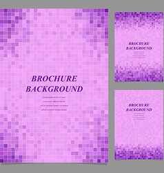 Geometric square pattern page template set vector image