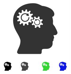 Head wheels rotation flat icon vector