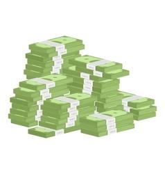 Heap of rolls money vector