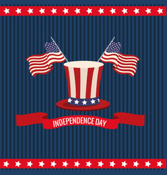independence day usa national celebration vector image