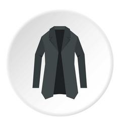 jacket icon circle vector image vector image