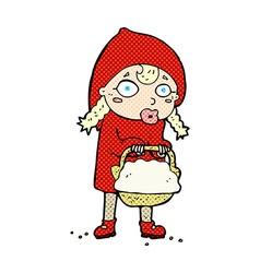 Little red riding hood comic cartoon vector
