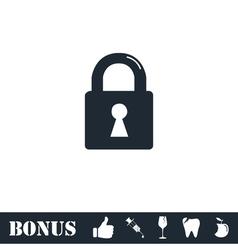 Lock icon flat vector image vector image