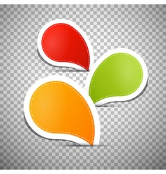 Orange Green Red Empty Labels Tags vector image vector image