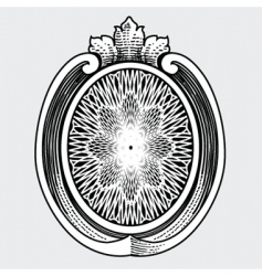 ornate shield vector image vector image