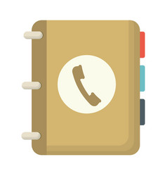 phone directory icon vector image
