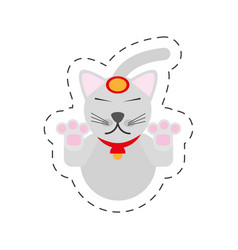 Portrait maneki neko - cat japanese vector