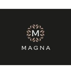 Premium monogram letter m initials logo universal vector