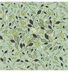 Seamless grey leaves pattern vector image