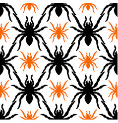 Seamless pattern with tarantula vector