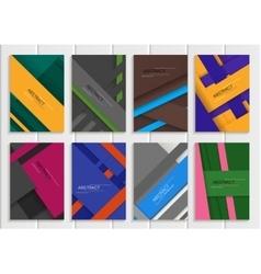 Set stock brochure vector image
